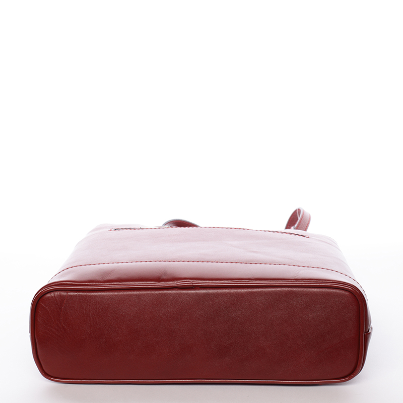 Kožená dámská kabelka Flor, červená