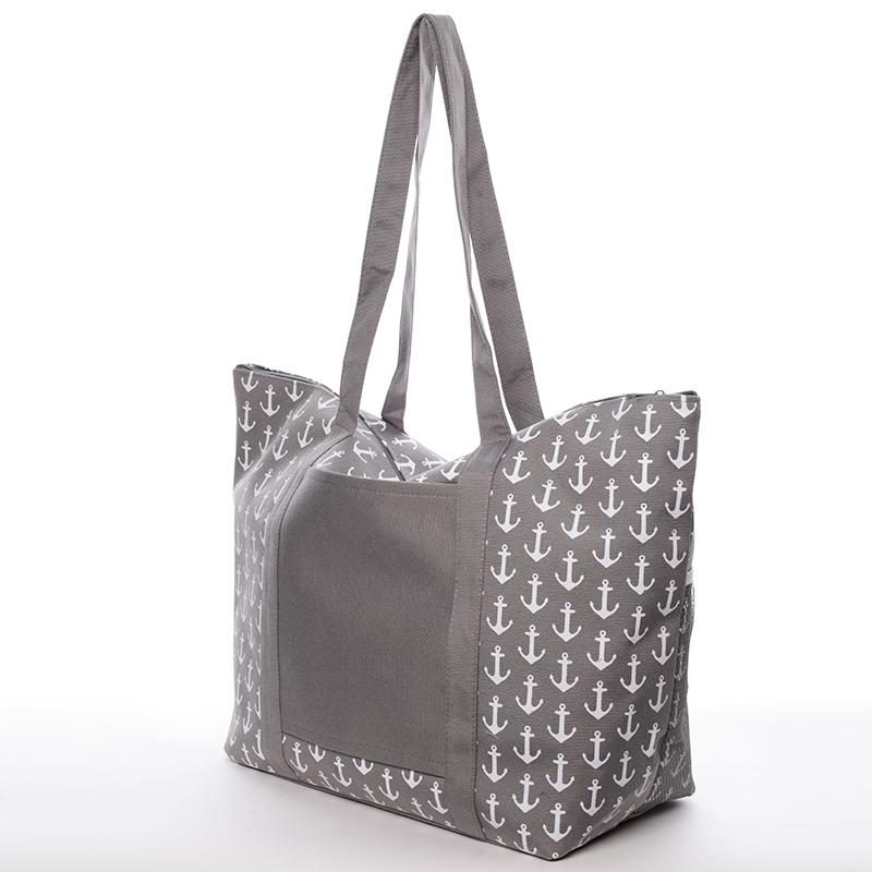 Plážová taška s kotvičkami Mariana, šedá