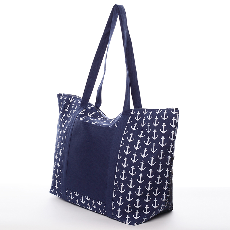 Plážová taška s kotvičkami Mariana, modrá