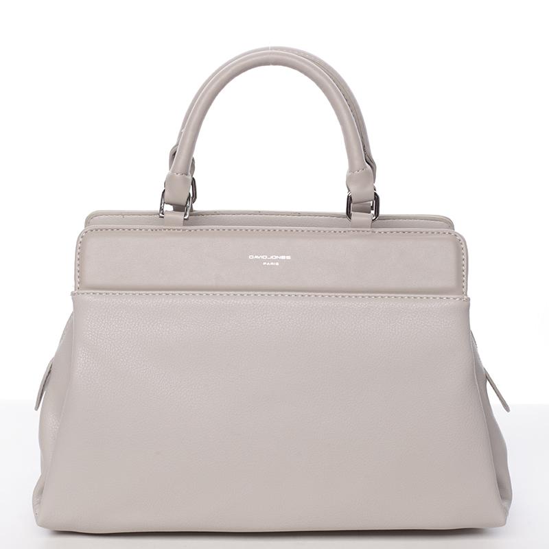 Luxusní kabelka do ruky Gladis, šedá