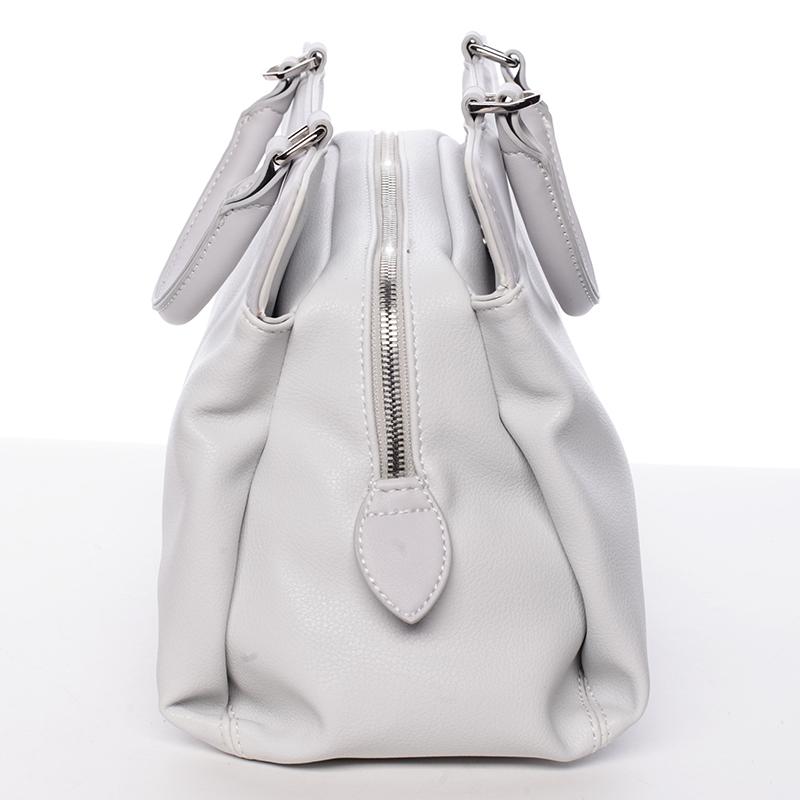 Luxusní kabelka do ruky Gladis, krémově šedá