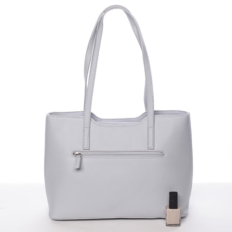 Krásná dámská kabelka Esperanza, světle šedá