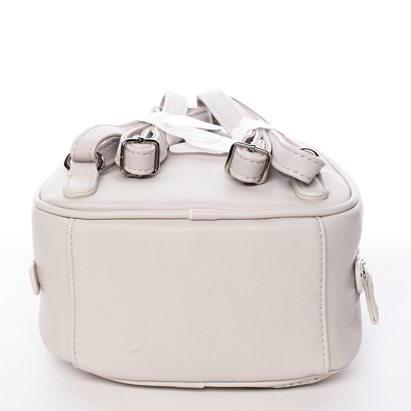 Stylový designový dámský batůžek, krémově šedý