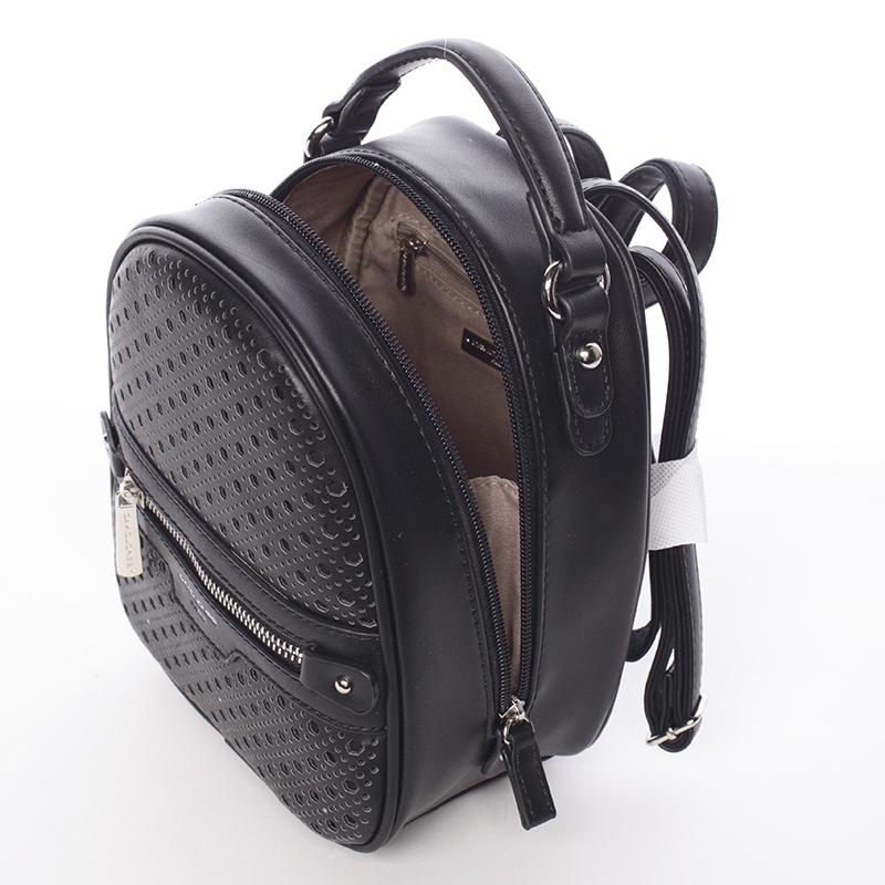 Stylový designový dámský batůžek, černý