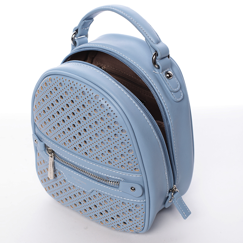 Stylový designový dámský batůžek, světle modrý