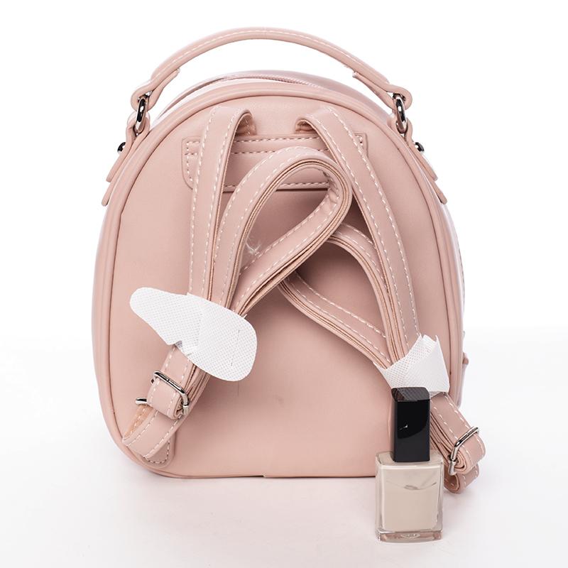 Stylový designový dámský batůžek, růžový