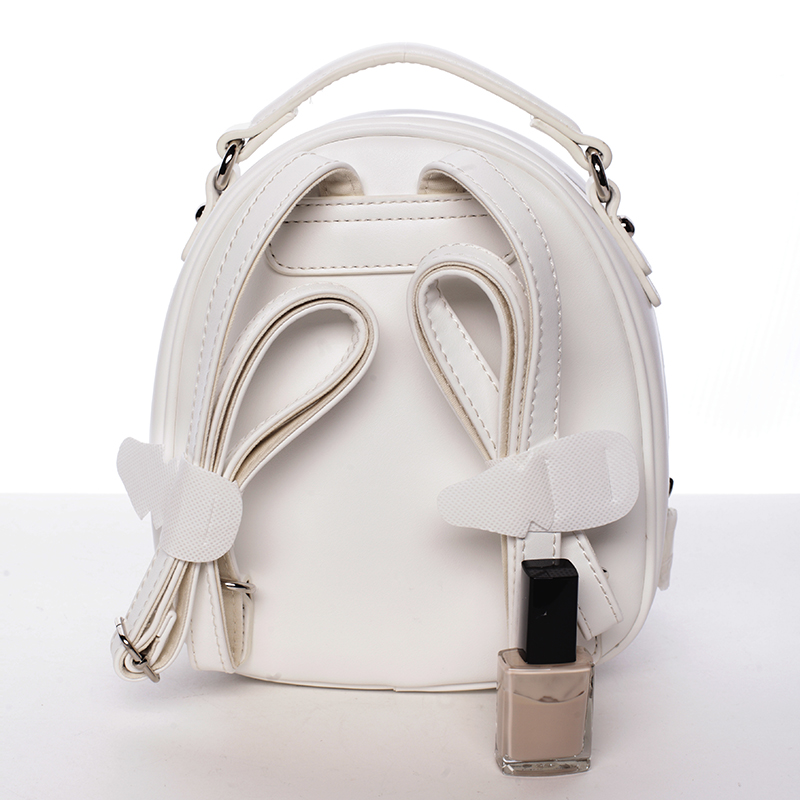 Stylový designový dámský batůžek, bílý