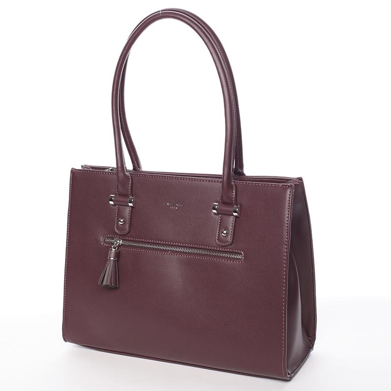 Elegantní módní kabelka Ariel, tmavě bordó