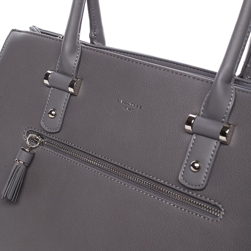 Elegantní módní kabelka Ariel, tmavě šedá