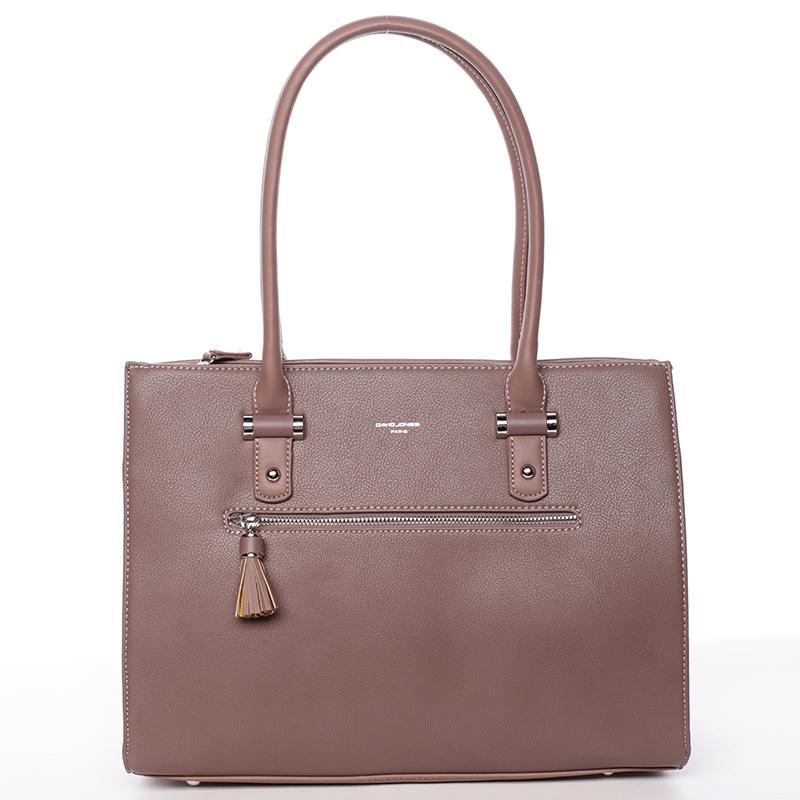 Elegantní módní kabelka Ariel, tmavě růžová