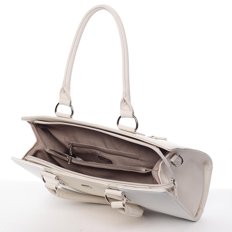 Elegantní kabelka Brunela, béžová