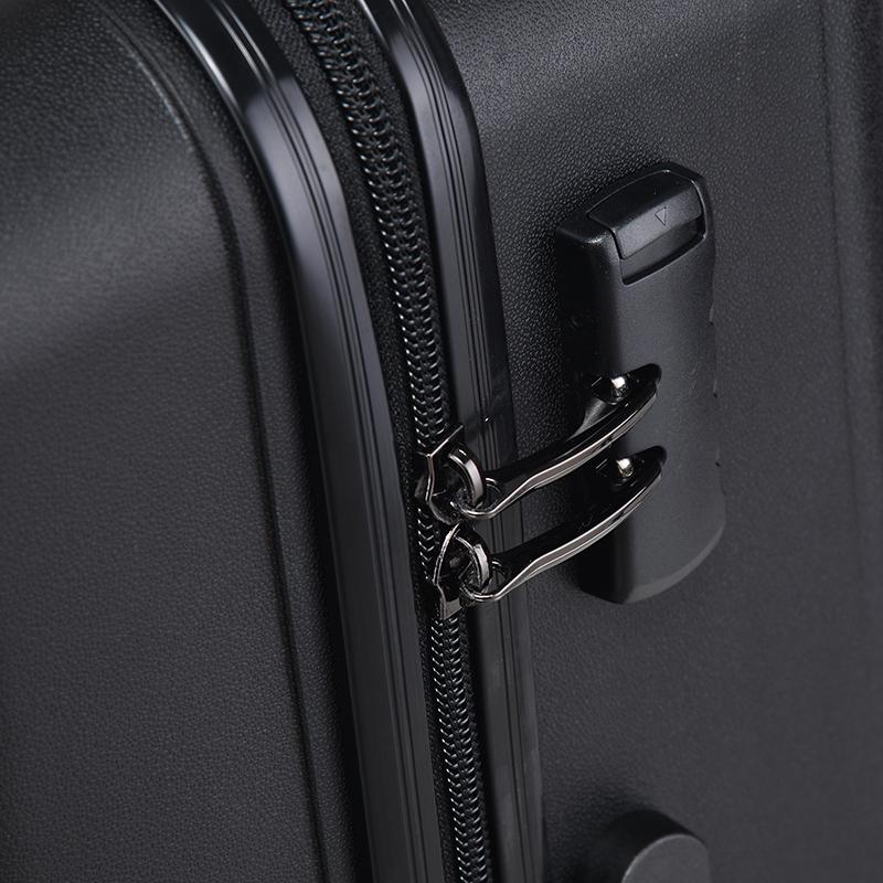Cestovní kufr Higland, černý, vel. I, 4 kolečka