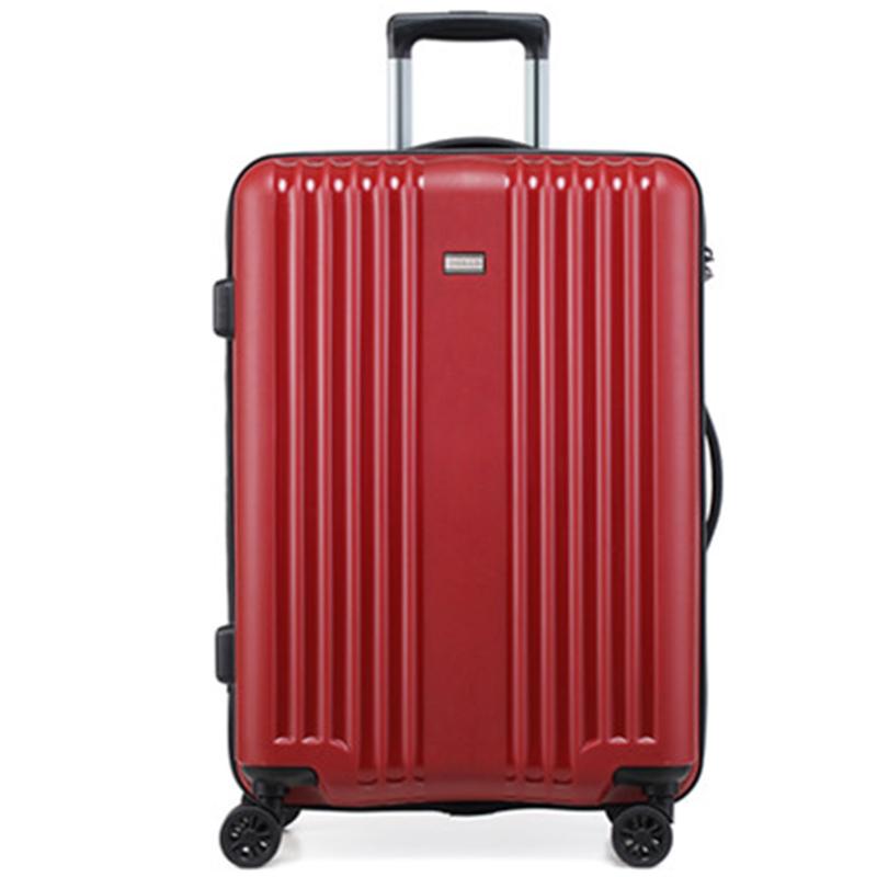 Cestovní kufr Higland, červený, vel. III, 4 kolečka