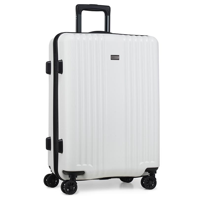 Cestovní kufr Higland, bílý, vel. I, 4 kolečka