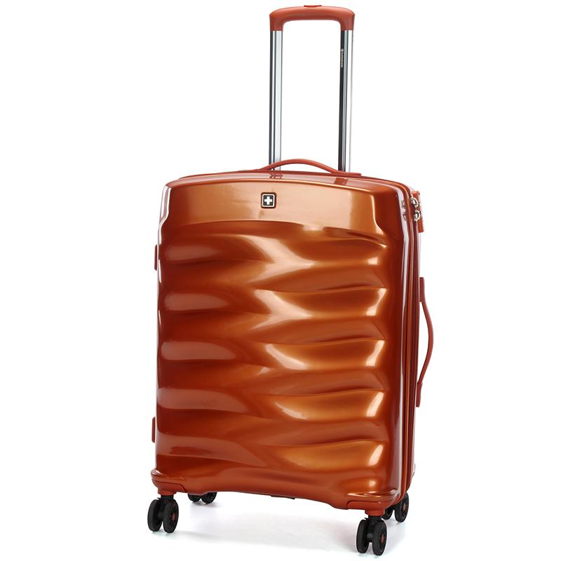 Cestovní stylový kufr Suissewin III, oranžový