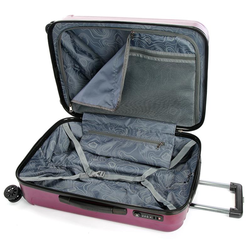 Pevný cestovní kufr Suissewin, vínový vel. I