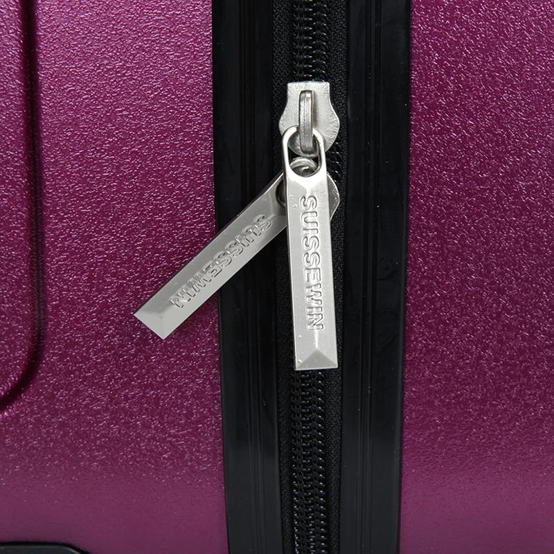 Pevný cestovní kufr Suissewin, vínový vel. II