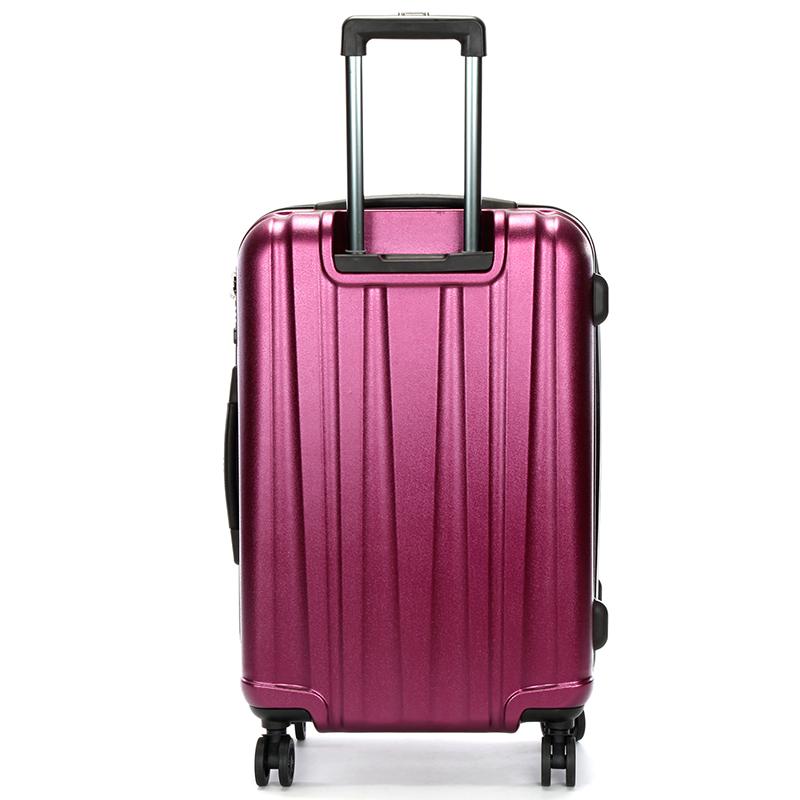Pevný cestovní kufr Suissewin, vínový vel. III