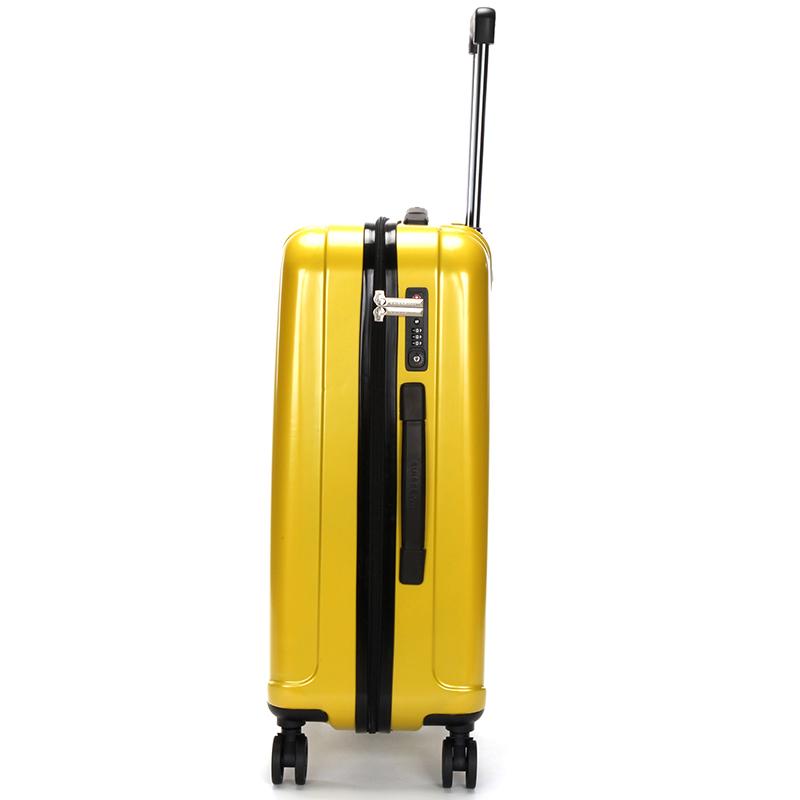 Pevný cestovní kufr Suissewin, žlutý vel. III