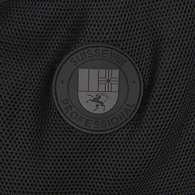 Moderní školní a cestovní batoh Sussewin, černo-šedý