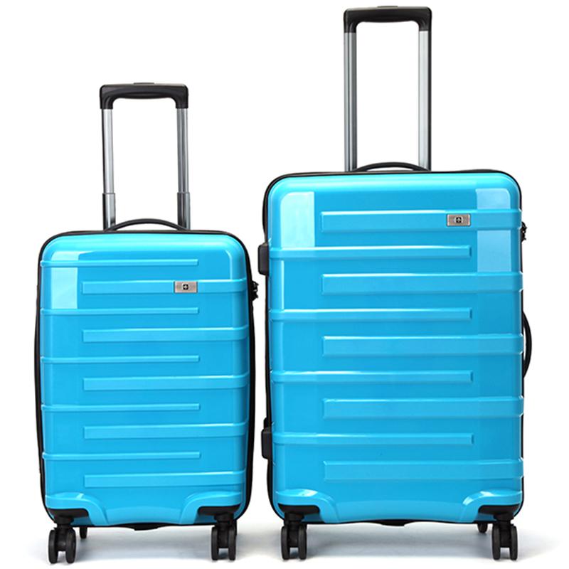 Tyrkysový cestovní kufr Suissewin, vel. I