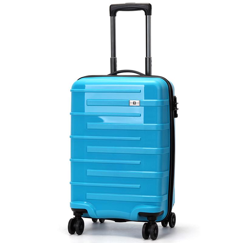 Tyrkysový cestovní kufr Suissewin, vel. II