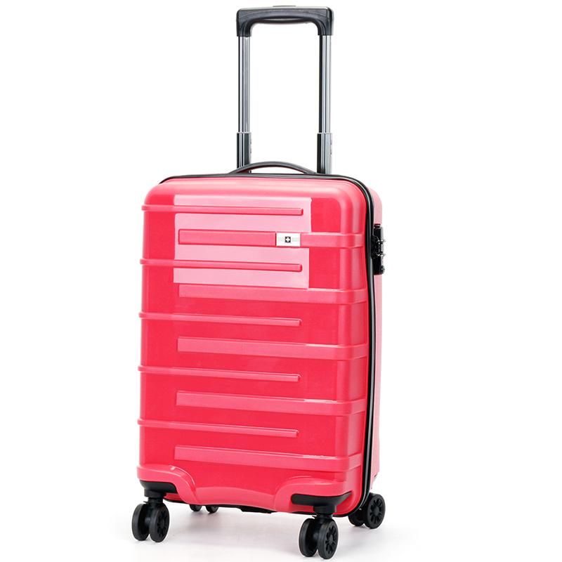 Růžový cestovní kufr Suissewin, vel. I