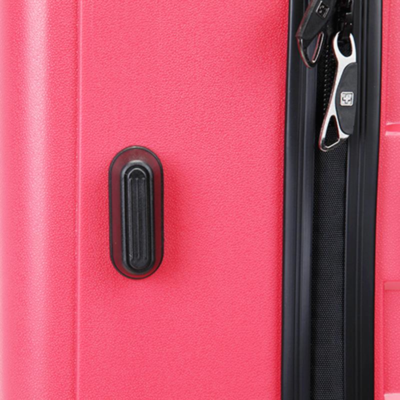 Růžový cestovní kufr Suissewin, vel. II