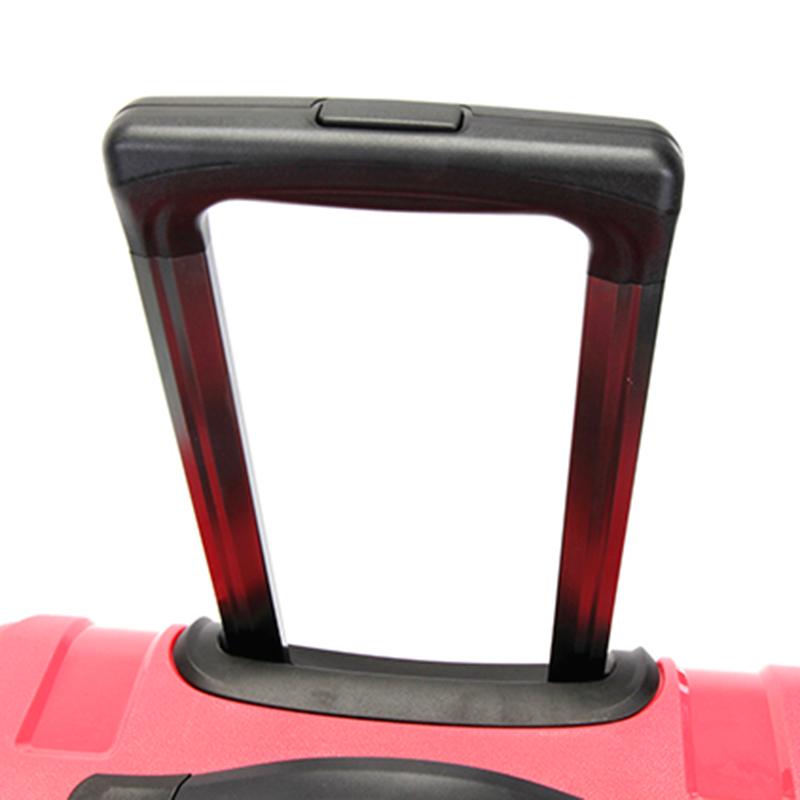 Růžový cestovní kufr Suissewin, vel. III