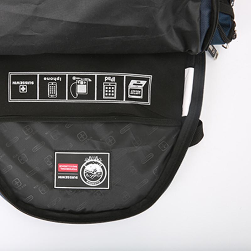 Kvalitní sportovní batoh Suissewin, černý