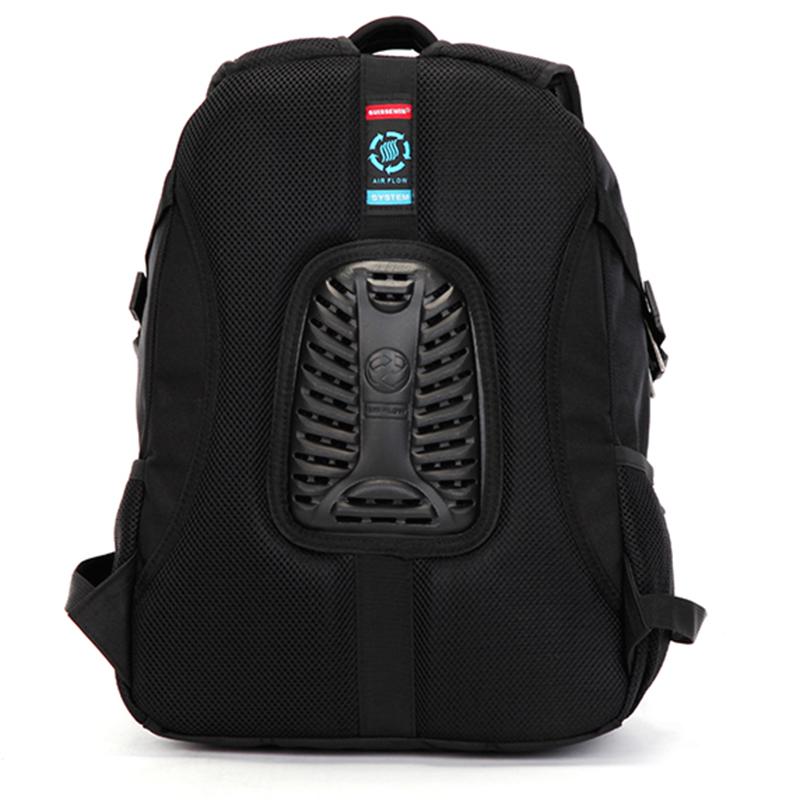 Turistický prodyšný batoh Sussewin, černý