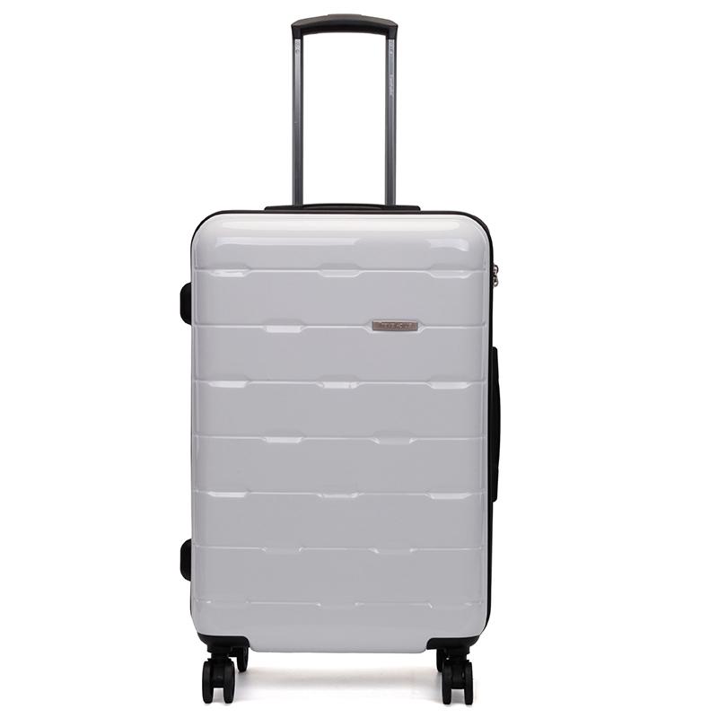 Bílý pevný cestovní kufr Travel Plus vel. II