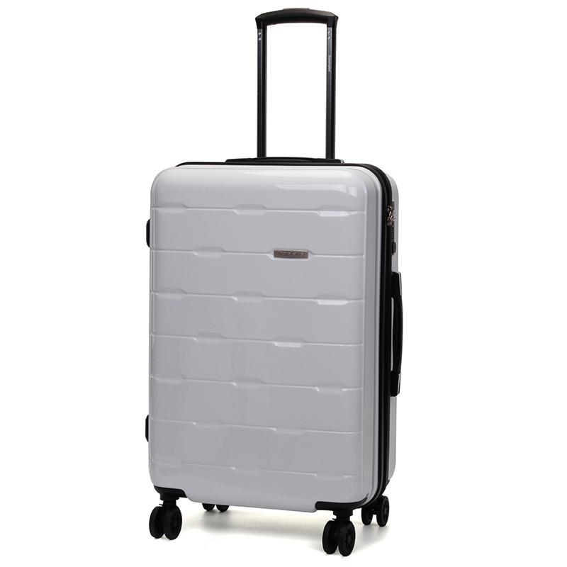 Bílý pevný cestovní kufr Travel Plus vel. III