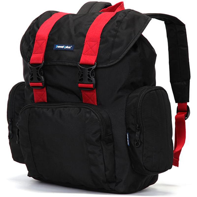 Velký multifunkční batoh Travel plus, černo-červený
