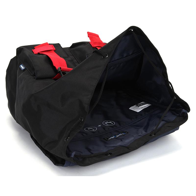 Velký prodyšný multifunkční batoh Travel plus, černo-červený