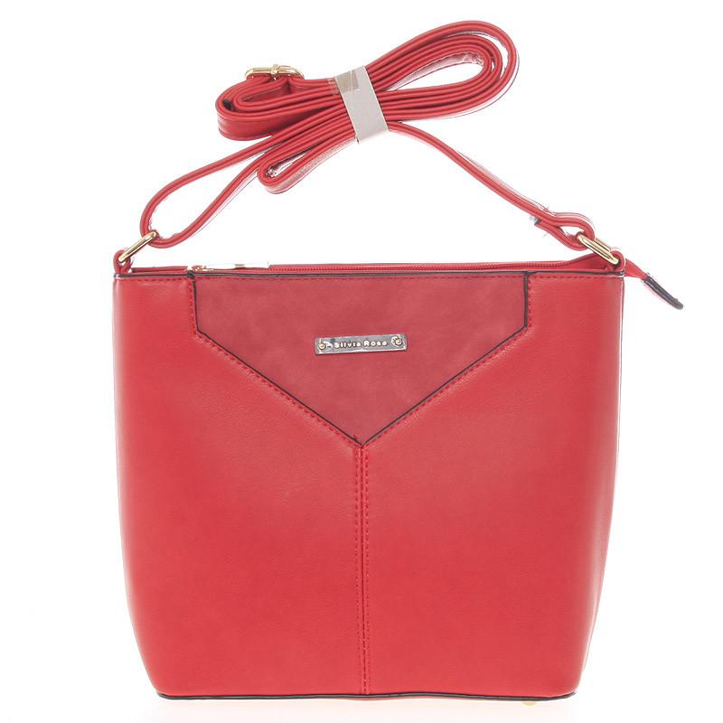 Krásná, stylová crossbody kabelka Carolina, červená
