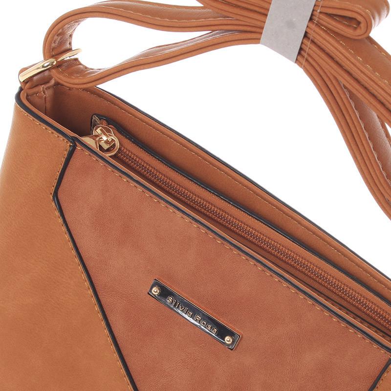 Krásná, stylová crossbody kabelka Carolina, hnědá