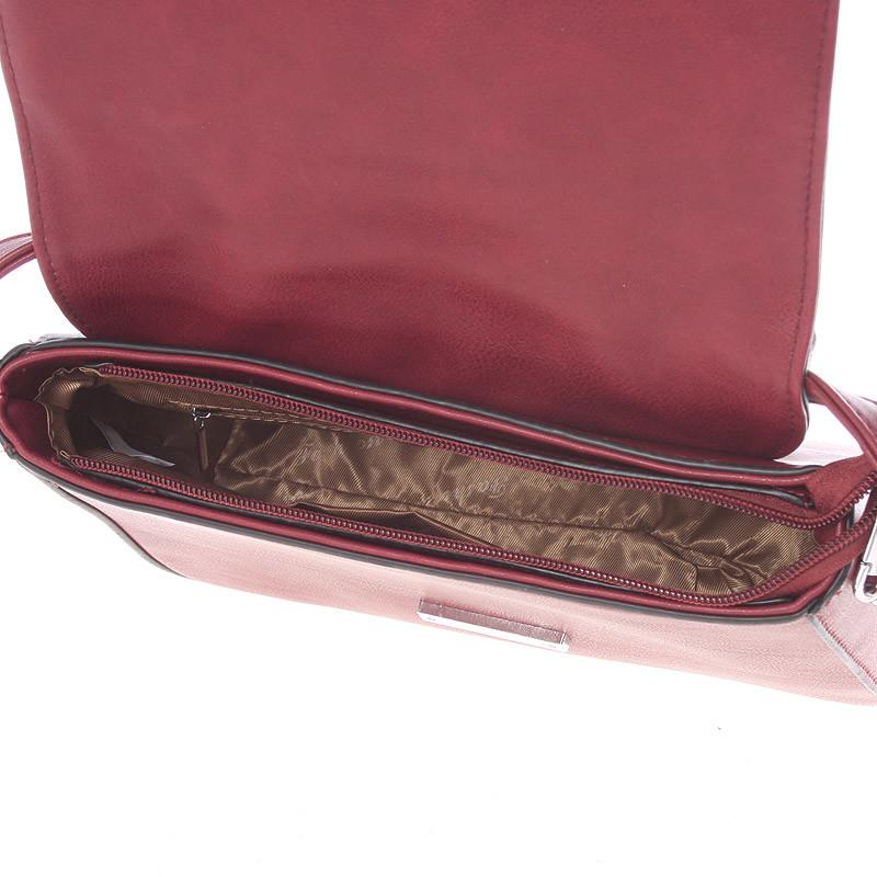 Luxusní crossbody kabelka Carlota,  vínová