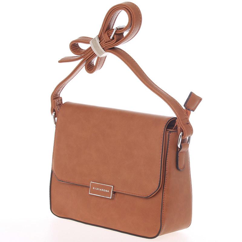 Luxusní crossbody kabelka Carlota,  hnědá