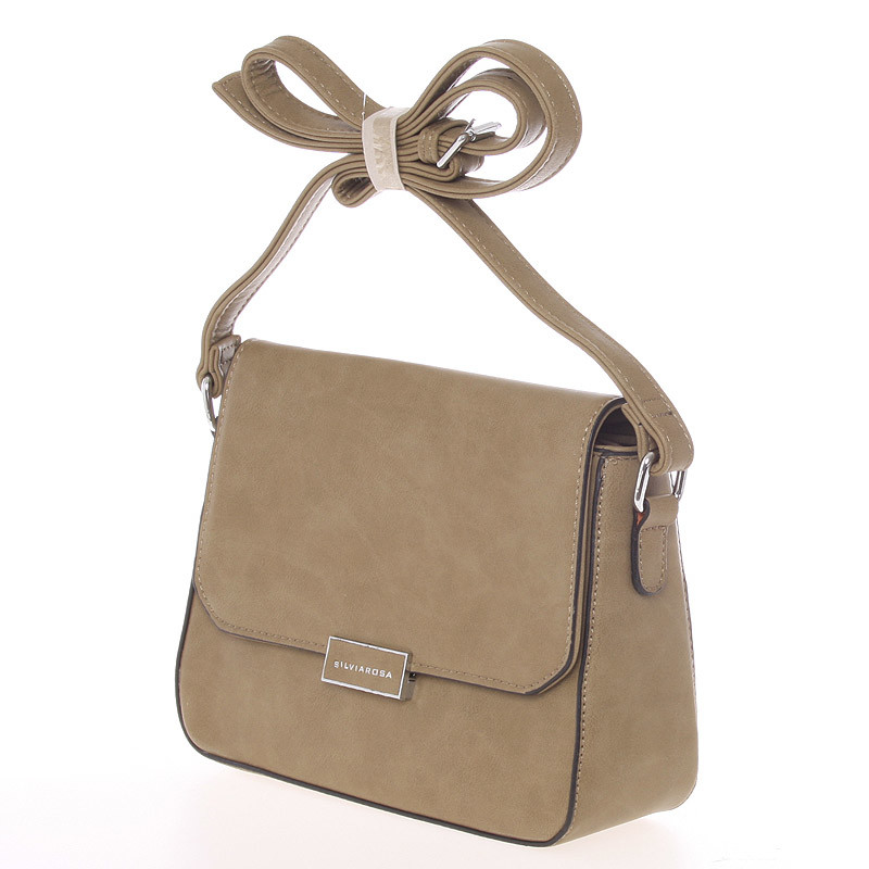 Luxusní crossbody kabelka Carlota,  khaki