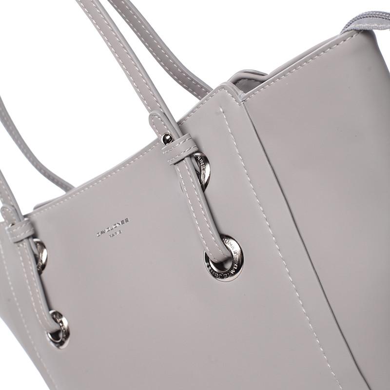 Elegantní shopper taška David Jones Amour, šedá