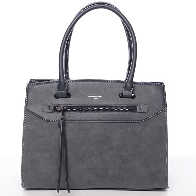Sofistikovaná dámská kabelka David Jones Valentina, paví modrá