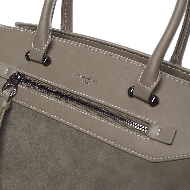 Sofistikovaná dámská kabelka David Jones Valentina, khaki