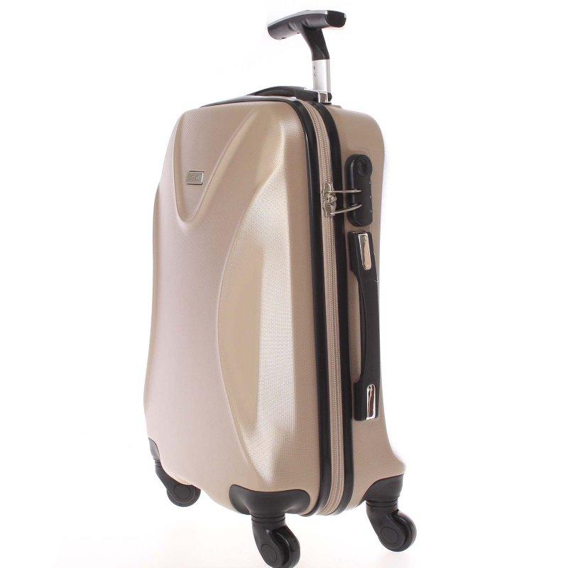 Cestovní kufr Ormi zlatý, vel. II, 4 kolečka