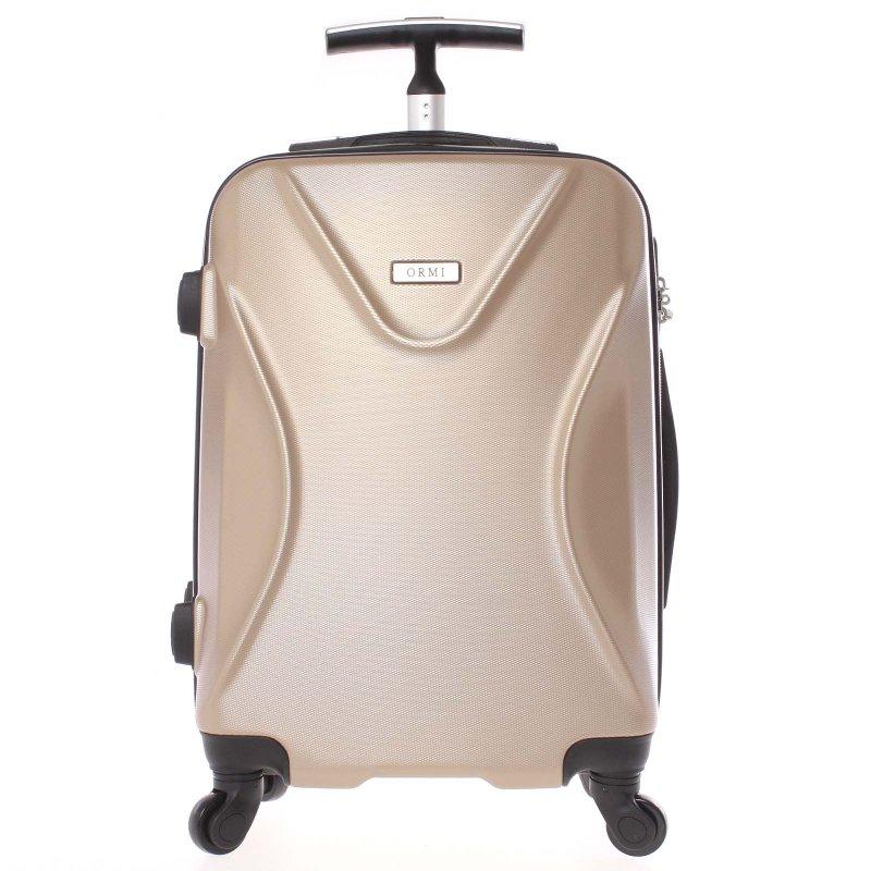 Cestovní kufr Ormi zlatý, vel. III, 4 kolečka