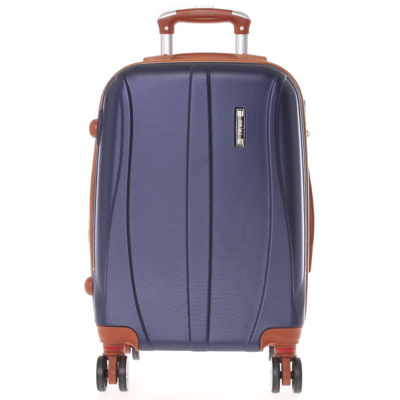 Námořnicky modrý cestovní kufr vel. I, 4. kolečka