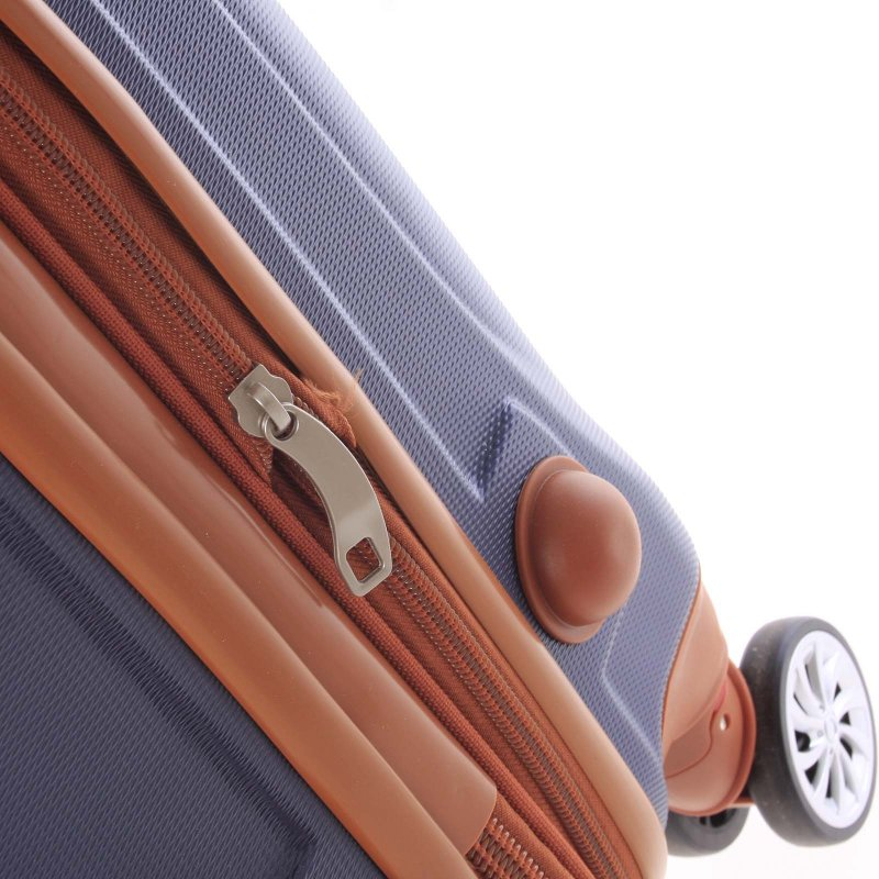 Námořnicky modrý cestovní kufr vel. II, 4. kolečka