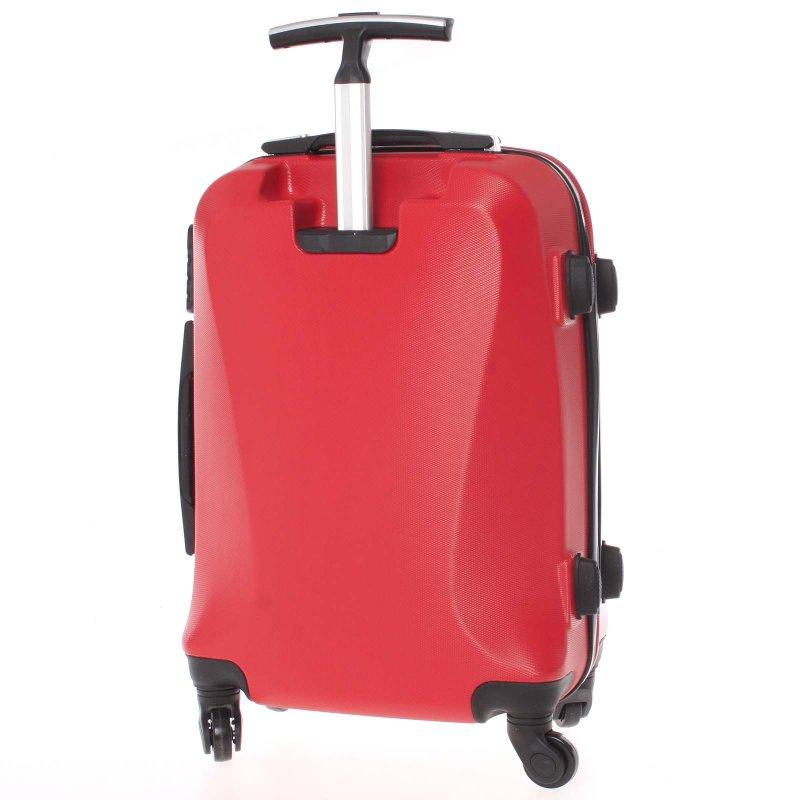 Cestovní kufr Ormi červený, vel. I, 4 kolečka