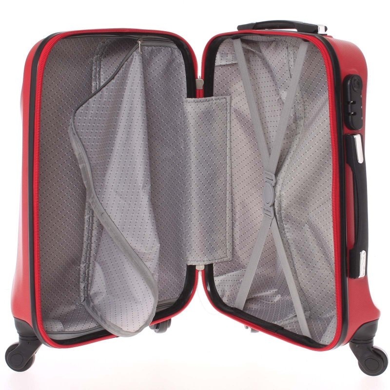 Cestovní kufr Ormi červený, vel. II, 4 kolečka