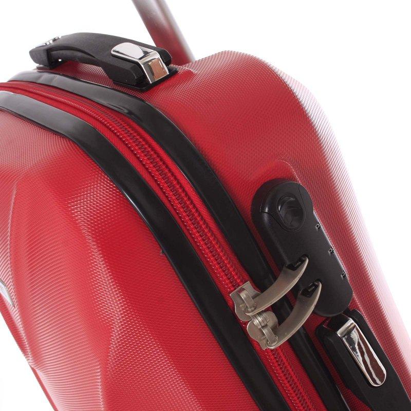 Cestovní kufr Ormi červený, vel. III, 4 kolečka